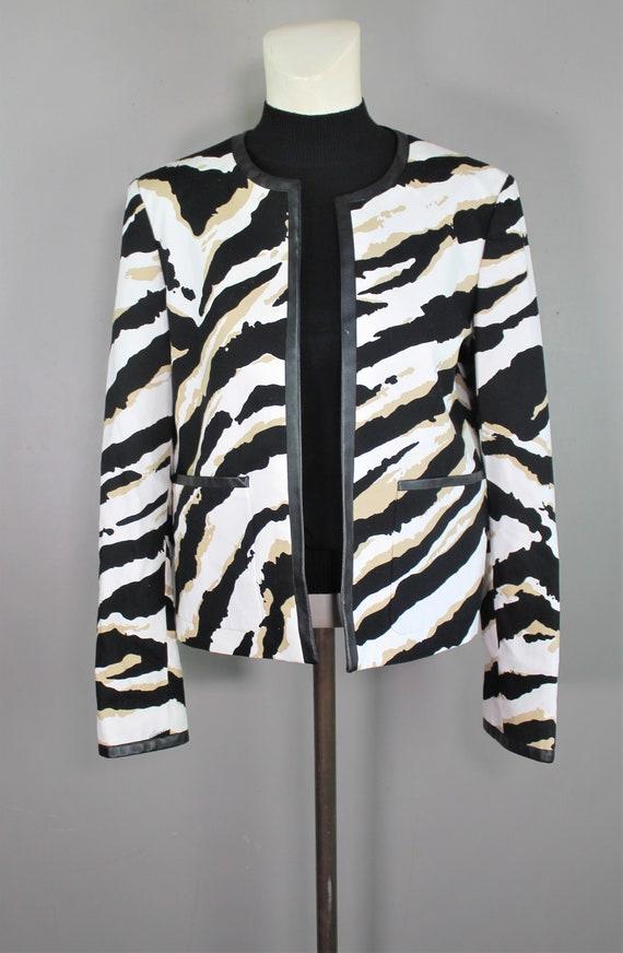 Gucci Zebra Print Blazer