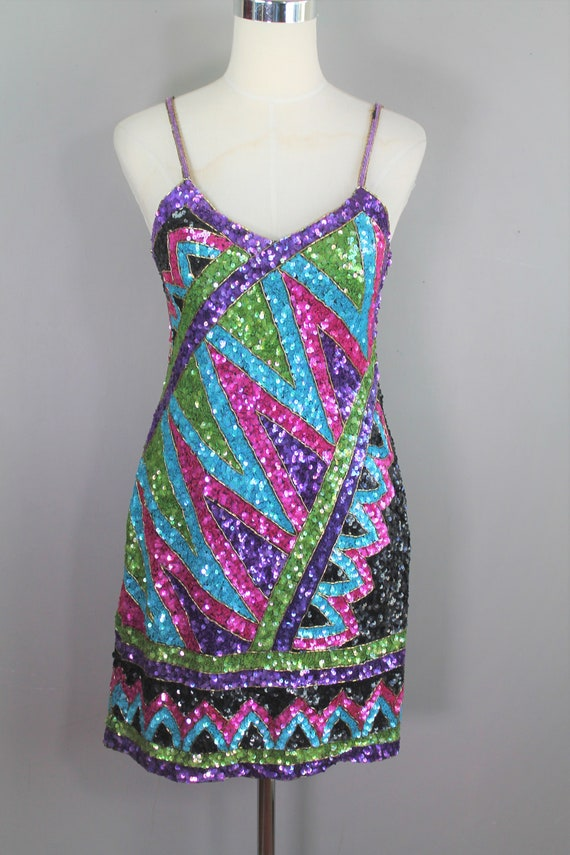 Bombshell- 1980's Sequin Mini Dress