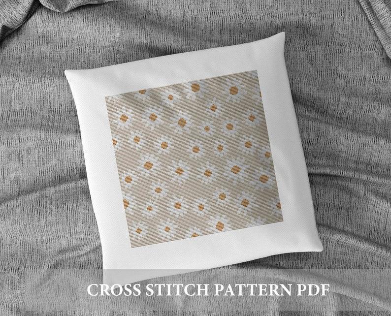 spring cross stitch boho Cross Stitch Pattern Modern Cross Stitch Pattern Boho Flowers Cross Stitch Pattern floral cross stitch pattern