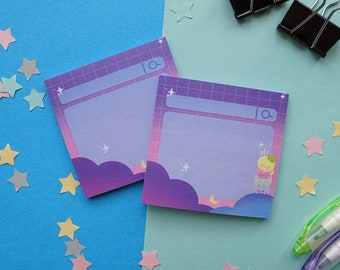 Dreamy Midnight Sky Search Bar Sticky Notes | Reminder To-Do Notepad | Kawaii Night Cloud Sky Sticky Pads | Cute Stationery Gift | 50 sheets