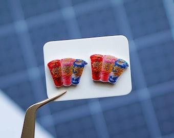 Biscuit Sticks | Yan Yan Stud Earrings | Shrink Plastic Jewelry | Childhood Asian Snack | Mini Food Earrings | Hypoallergenic
