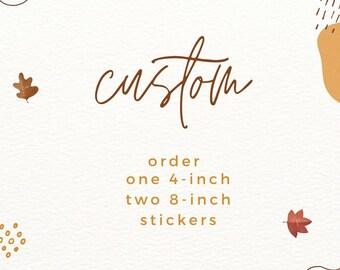 custom sticker order for eric
