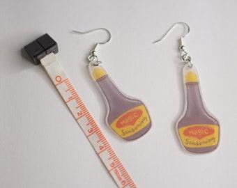 Magic Seasoning   Hypoallergenic Shrink Plastic Hook Earrings   For Sensitive Ears   Vietnamese Sauce   Foodie Jewelry   Shrinkydink Studs