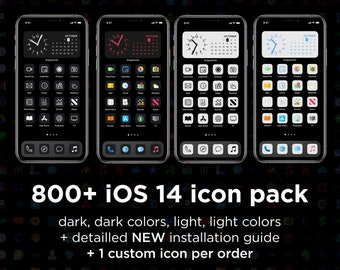 800 icon pack for iOS 14