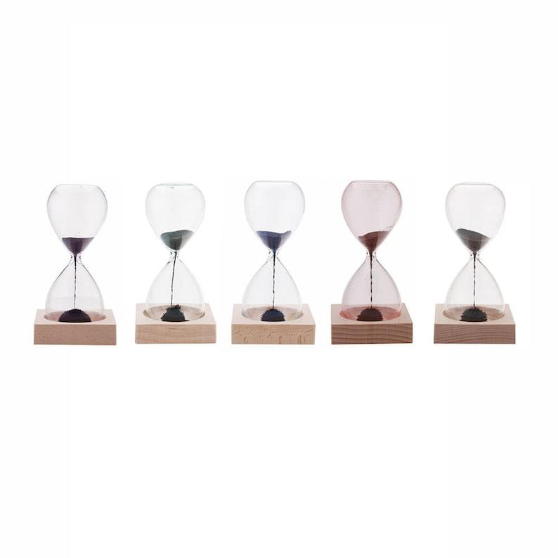 1pcs Magnet Hourglass Awaglass Hand-blown Timer Desktop image 6
