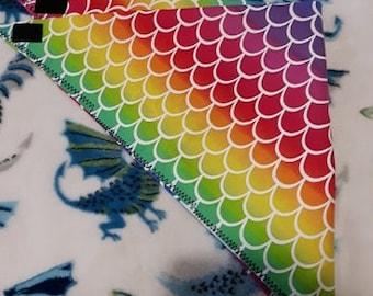 Rainbow fursuit bandana  Prop Accessory  Accessories  Mermaid  Scale  Scalie
