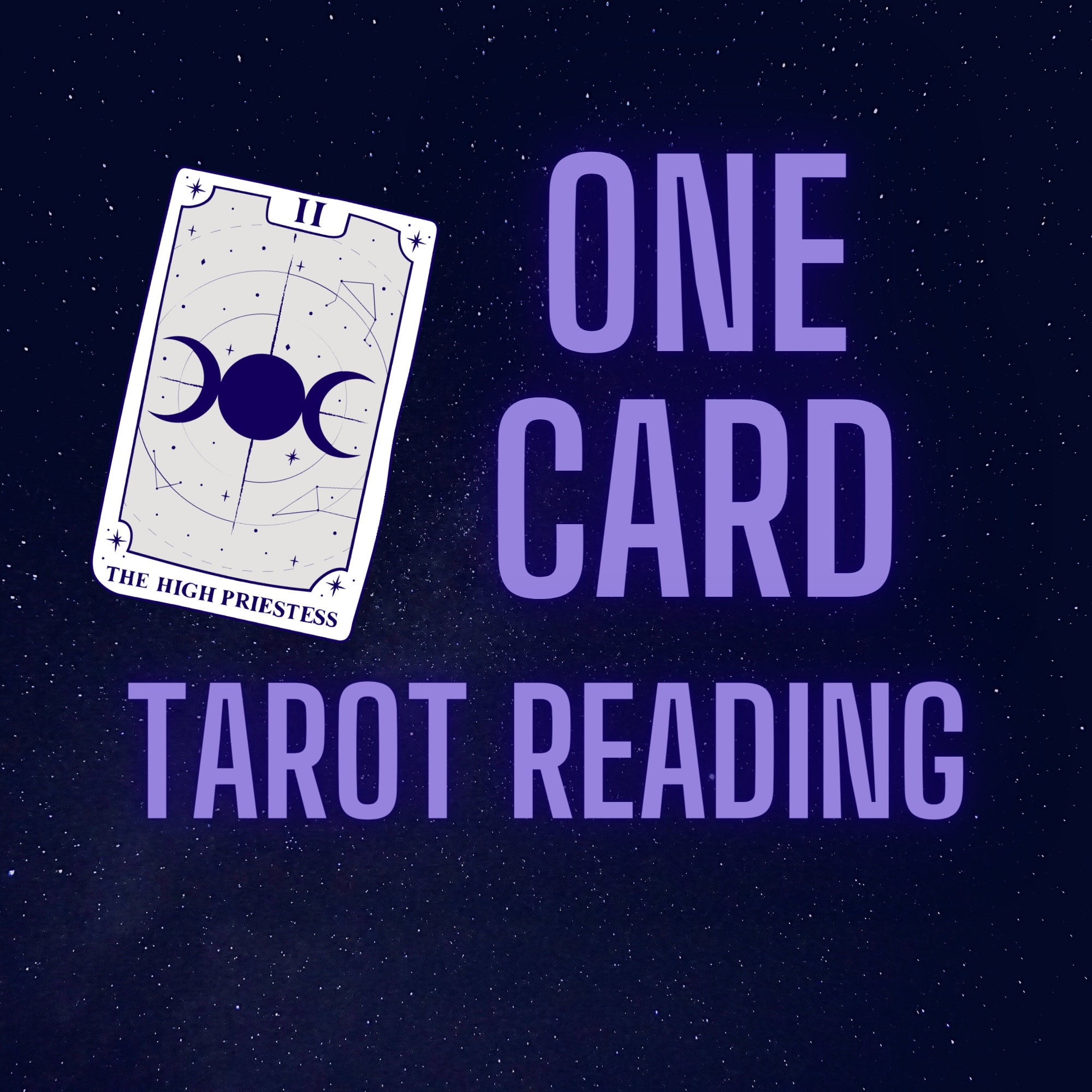 One Card Draw Tarot Reading Etsy
