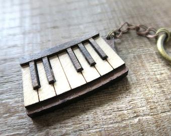 Piano Music Teacher Gift Bookmark Stocking filler Secret Santa Personalised
