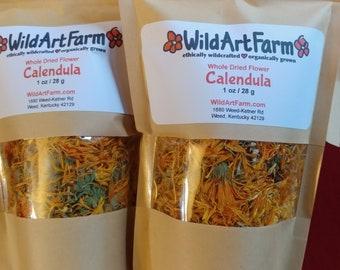 Calendula Flowers, Dried Whole, Pesticide Free