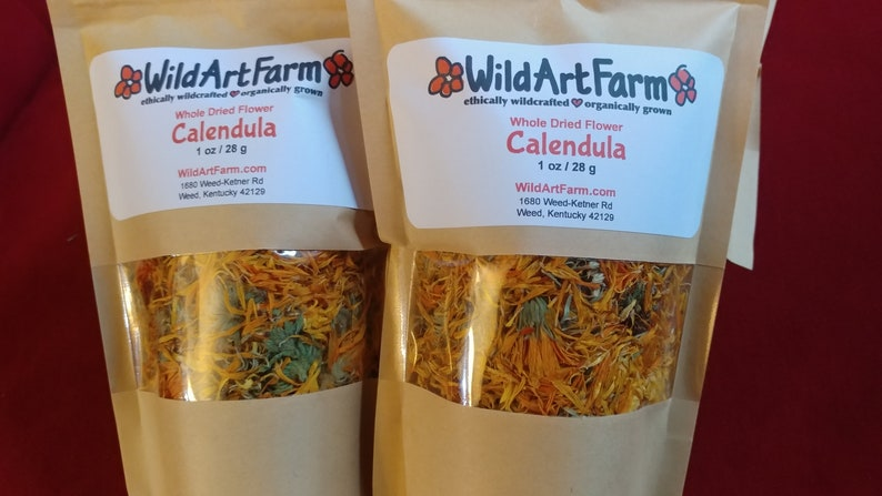 Calendula Flowers Dried Whole Pesticide Free image 0