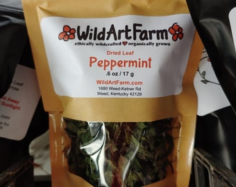 Peppermint Dried Whole Leaf Free of all Chemical Amendments