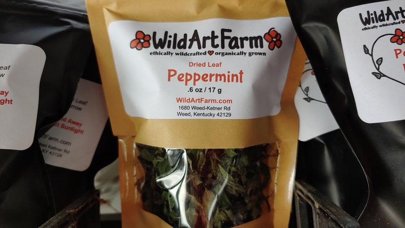 Peppermint Dried Whole Leaf Free of all Chemical Amendments image 0