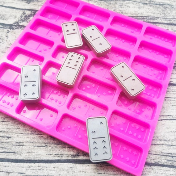 Szecl Dominoes Silicone Molds for Resin Making Dominoes for Kids with Dots Handmade Dominoes Mold Silicone Epoxy Set Dominoes Games for Adults and Family Dominoes Board Game Casino Party Supply
