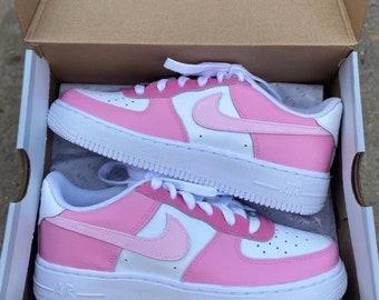 Pink Custom Nike Air Force 1's