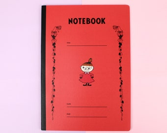 Moomins Little My Japanese Notebook // Kawaii Red Moomin Lined Paper Pad // Stationery Made in Japan