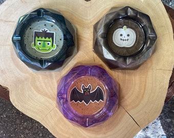 Pumpkin ashtray, resin
