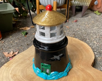 Lighthouse ceramic lantern