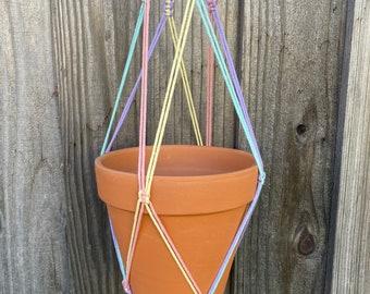 Rainbow Macrame Plant Hanger, Choose Your Rainbow