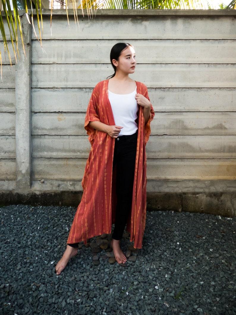 japan style shibori robes dressing gown bohemian jacket long kimono jacket