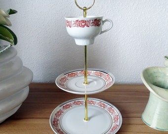 Etagere - Collectible Cup Collectible Blanket Porcelain - 3-stage - Vintage - upcycled