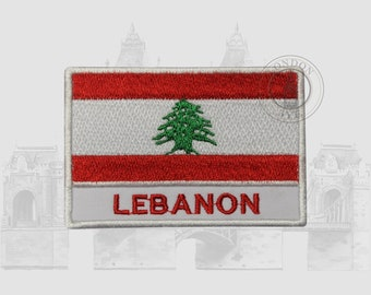 "Mediterranean Lebanon Patch Beirut Badge 2.75/"" Iron on Beqaa"