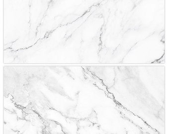 Marble Texture Photography Backdrop, (2 in 1) Double Sided Flat Lay Food Photography Props, Marble Backdrop Panel, Marble Tile Board