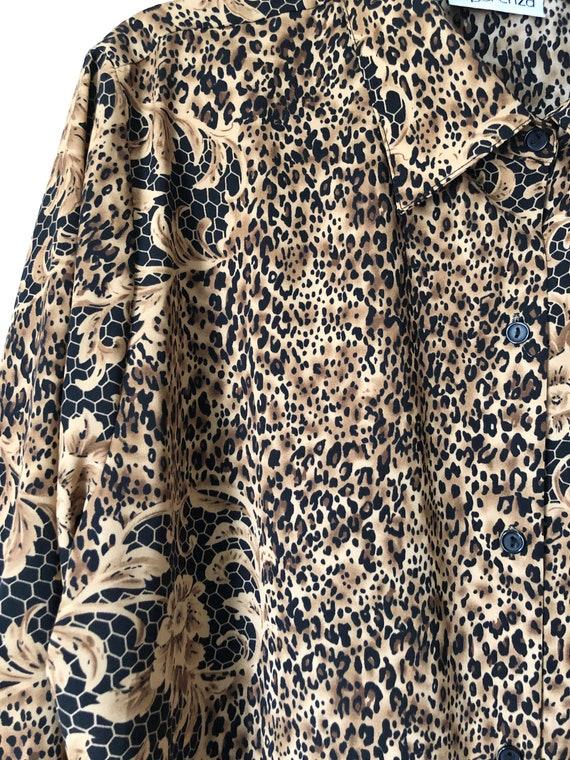 Leopard & lace blouse - image 2