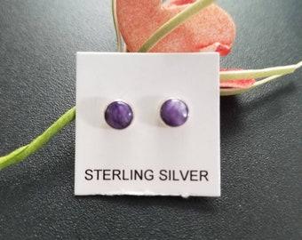 Wedding Jewelry ! 925 Silver Plated PURPLE COPPER TURQUOISE Gem Earrings Sale