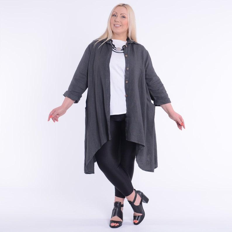 White Ladies Women/'s Lagenlook Heavy Linen Quirky Tunic Plus Size UK 16-32 Grey Denim Pink US 14-30 Grey 9479 Black