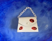 Hand Painted Eye Faux Leather Bag