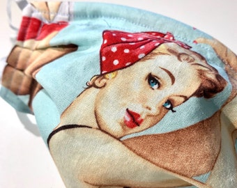 Female pinup face mask - Choose your pinup!