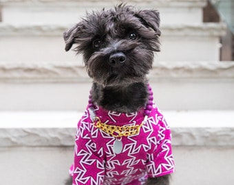 Pink Star Dog Shirt | dog clothing | dog outwear | dog fashion | Dog Apparel