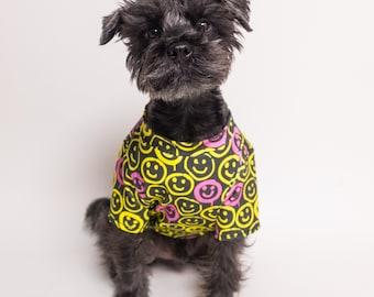 Graffiti Happy Face Shirt | Dog clothing | Cat Clothing | Dog Cat Fashion | dog apparel | Dog T-shirt
