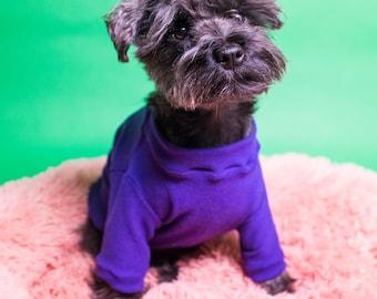 Purple Bamboo Cotton Knit Dog Sweater | Dog apparel | Dog fashion| Dog outerwear | Dog Sweater | Winter Dog Wear
