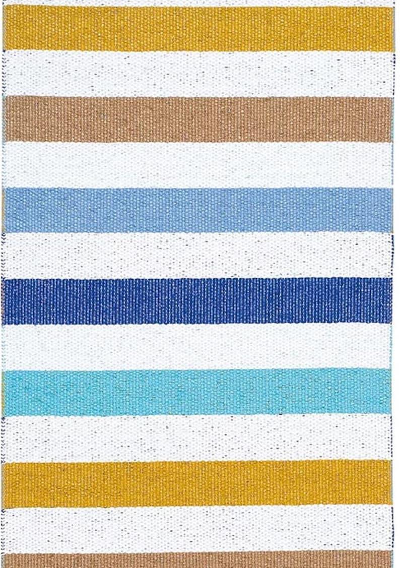 Cabin Rug Outdoor Rug Will last a lifetime Patio Rug Size: 28 x 40 Traditional Swedish Rug 19203-A100 Medium Blue Happy Rug