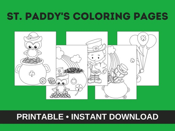 St. Paddy's Coloring Pages St. Paddy's Printable For