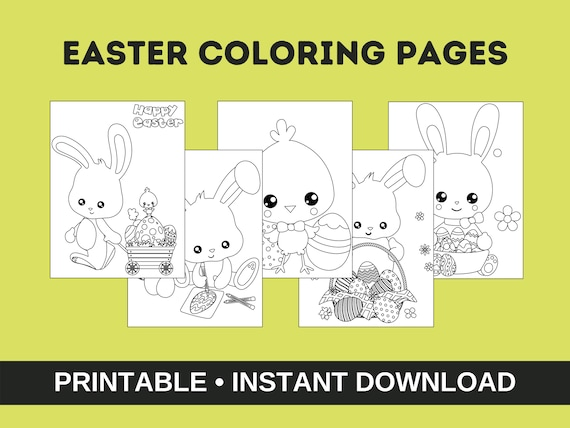 Easter Coloring Pages Easter Activity For Kids Happy Easter