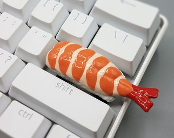 Shrimp Sushi Keycaps Handmade Resin Custom Artisan