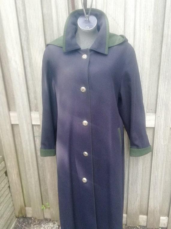 Vintage 80s long wool tyrolean, cloak, thrkron, le