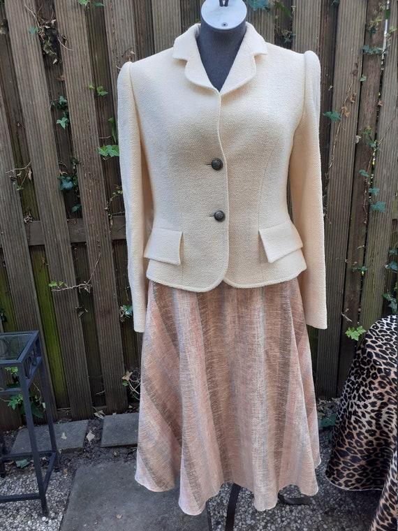 Anne Berlin Vintage 80's beige woolen blazer