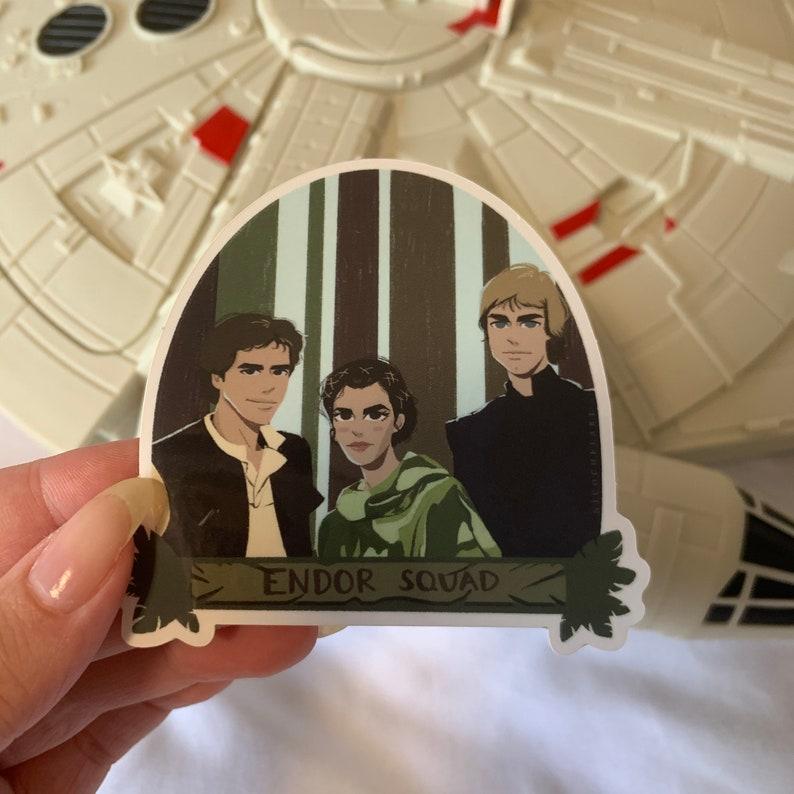 Endor Squad Vinyl Sticker Original Trio