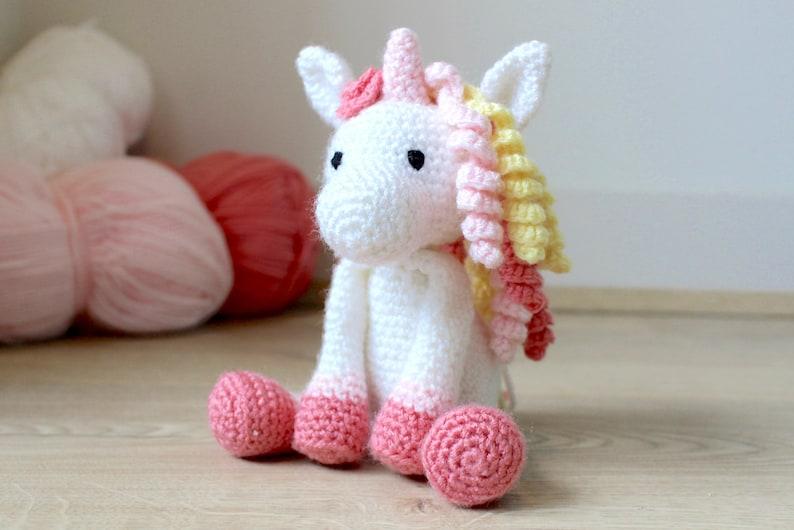 Unicorn Crochet Pattern  Crochet Animal Pattern  Amigurumi image 0