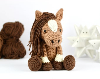 Horse Crochet Pattern PDF - Crochet Animal Pattern - Easy Crochet Horse Pattern - Amigurumi Horse - Beginner Crochet Toy - Download UK/Au/US