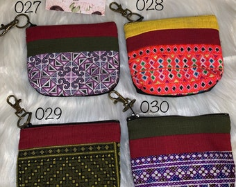 Coin Wallet Hmong Wallet Boho Bag Card Holder Festival Bag Ladies Wallet Floral Purse Vegan Wallet Small Embroidered Purse Mini Bag