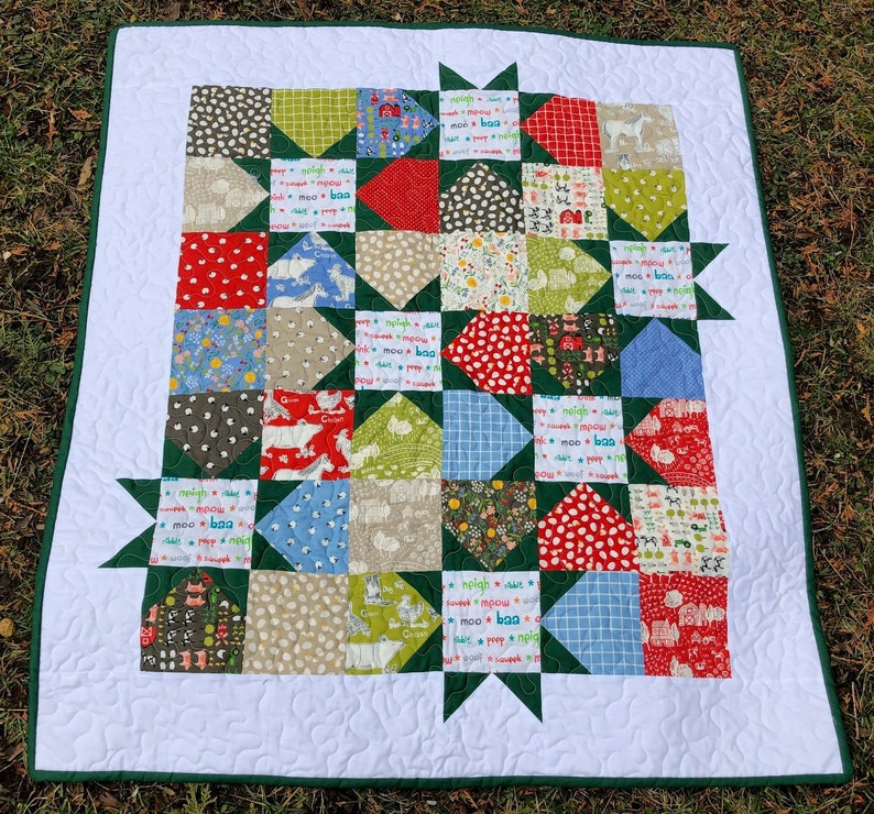 Farm Charm  Baby Quilt image 0