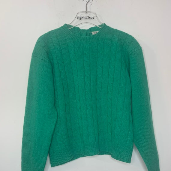 Vintage 70's JG Hook Button Back 100% Wool Sweater