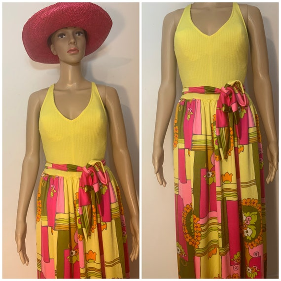 Vintage 1970's Cole Of California Flower Power Psy