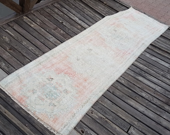 persian rug Turkish  Rug , vintage rug , a762 runner rug , area rug , kilim rug , oushak rug  9.7 x 2.4 feet persian rug  no : r565