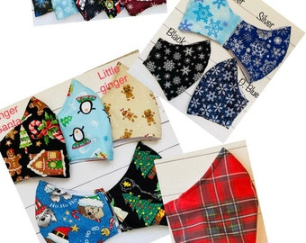 Christmas fabric face mask. Nose wire and filter pocket. Adjustable ear loops for perfect fit