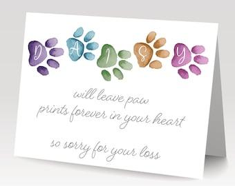 Pet Sympathy Cards-Etsy